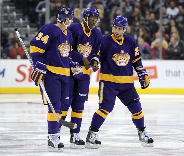meet faef0 8d8ce la kings purple and gold jersey