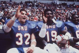 "With the ""Pony Express"" of Eric Dickerson and Craig James, SMU became one of college football's greatest dynasties"
