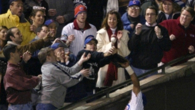 Bartman wasn't the only fan going for the ball