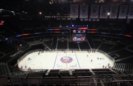 It may have all the bells and whistles, but the Barclay's center isn't built for hockey